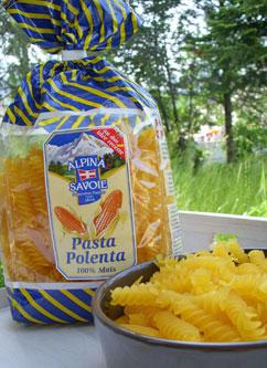 Pasta Polenta en salade multicolore