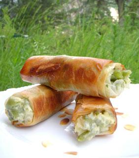 Croustillants de haricots verts & amandes