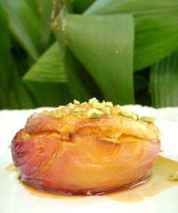 nectarine farcie polenta
