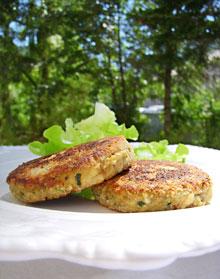 Croquettes moelleuses au poulet, courgettes & estragon … Recyclage des restes de poulet