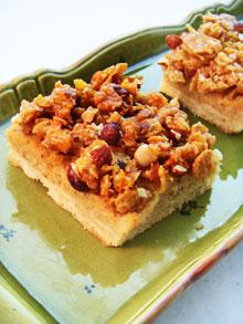 Carrés aux noisettes, pommes & cardamome … P'tit ratage