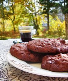 Outrageous Cookies au chocolat noir & bulles de riz