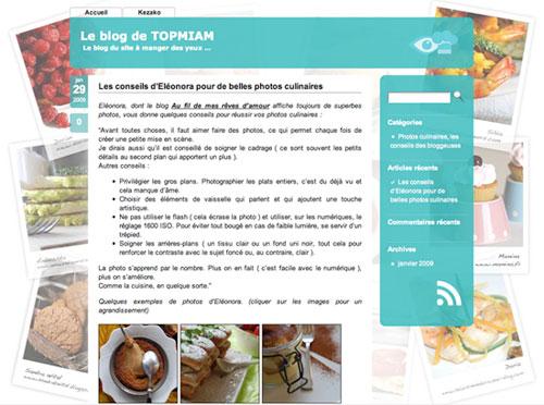 Nouveau : le blog de TOPMIAM
