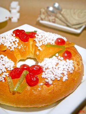 brioche des rois Provençale aux fruits confits & fleur d'oranger