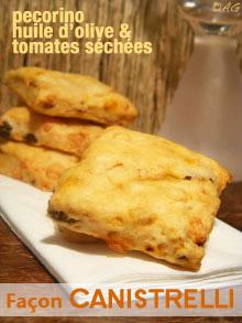 """Biscuits d'apéritif à l'huile d'olive, aux tomates séchées & pecorino … façon """"Canistrelli"""""""