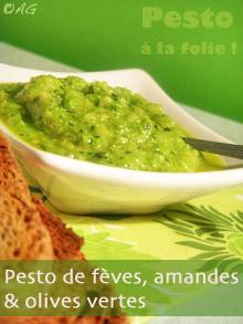 Pesto de fèves & Pesto à la folie ! pour le Click Gourmand #3 avec 1001 huiles