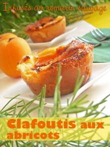 Clafoutis infusés au romarin sauvage & aux abricots