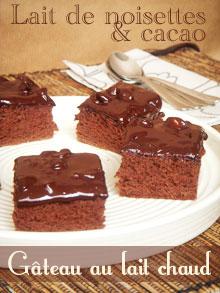 Gâteau au lait chaud d'Isa – Version lait de noisettes & cacao