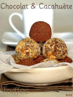 truffe chocolat cacahuete