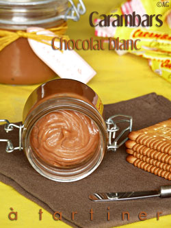 Pâte à tartiner au chocolat blanc & Carambars