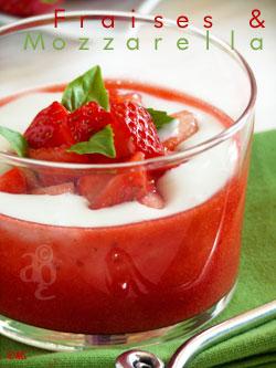 fraise et mozzarella
