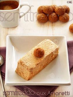Semifreddo aux amaretti & café expresso brulant