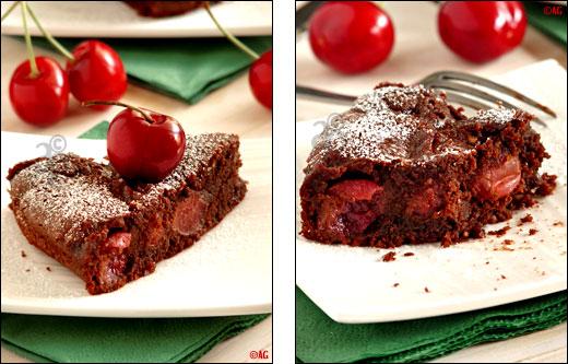 alter gusto | gâteau au chocolat, amandes & cerises fraîches -