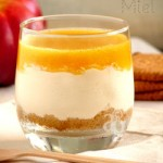 Cheese-cake (sans cuisson) en verrine, au miel & coulis de nectarines