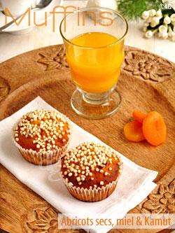 Muffin « pète la forme ! » aux abricots secs, miel & kamut – MM #22