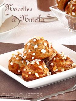 Chouquettes aux noisettes & Nutella