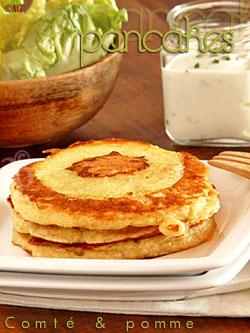 pancakes au comté et pomme
