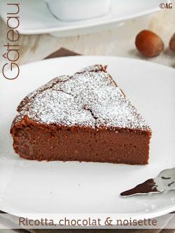 Gateau cacao ricotta