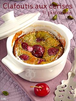 Clafoutis aux cerises & pistache
