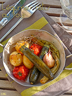 légumes rotis au four