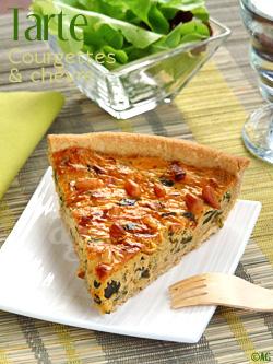 Tarte aux courgettes & chèvre – Pâte brisée à la farine de Kamut