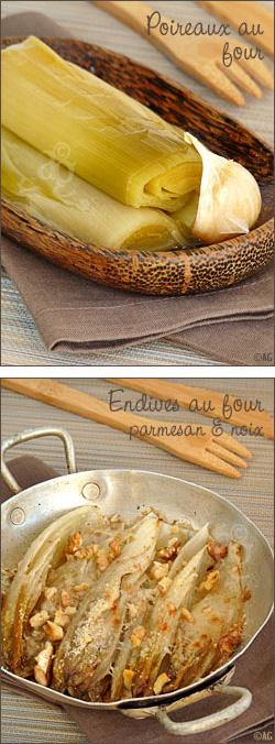 Endives & poireaux cuits au four