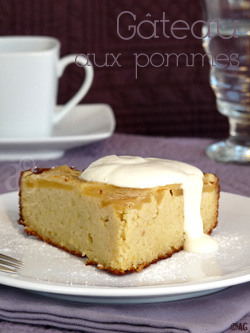 Gâteau aux pommes, amandes & fleur d'oranger