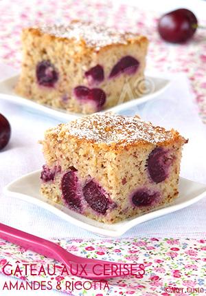 Gâteau aux cerises, amandes & ricotta