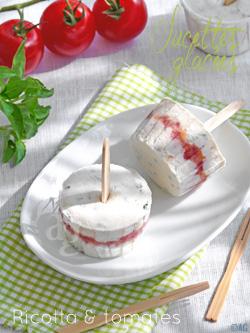 Sucettes glacées à la ricotta & tomates pour l'apéro