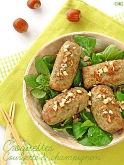 Croquettes de bœuf aux courgettes & champignons