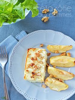 Feta rôtie aux pommes & noix