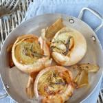 oignons doux rôtis à la sauge