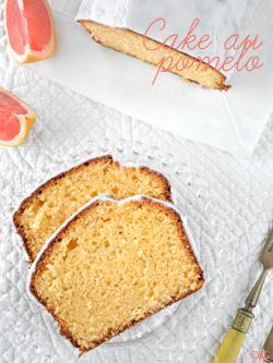 Cake au pomelo, chocolat blanc & huile d'olive + Gagnants du livre O'cha Recettes d'Asie