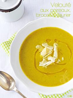 velouté aux poireaux et brocoli