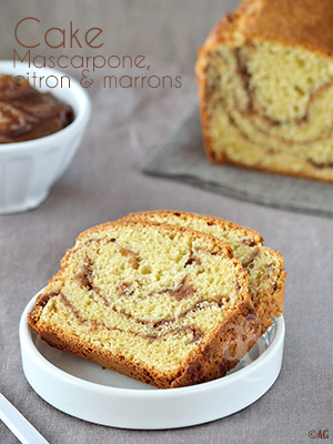Cake au mascarpone, citron & marrons - Alter Gusto -