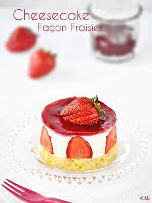 cheesecake faon fraisier