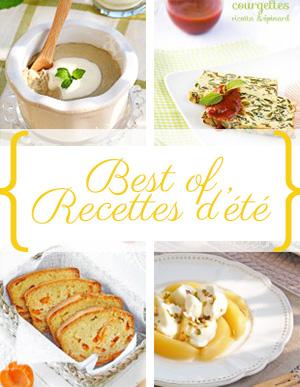 Best of de mes recettes d'été