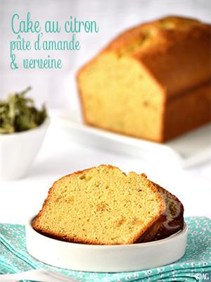 Cake au citron, pâte d'amande & verveine