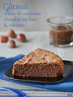 Gâteau à la crème de marrons, chocolat au lait & noisette – Nouveau design pour Alter Gusto