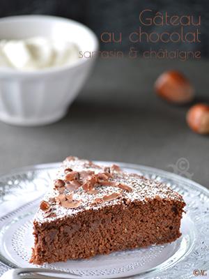 Gâteau au chocolat, sarrasin & châtaigne