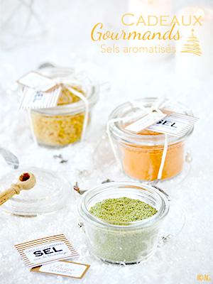 Cadeaux gourmands #3 – Sels aromatisés au piment d'Espelette ou à la sauge ou aux noisettes