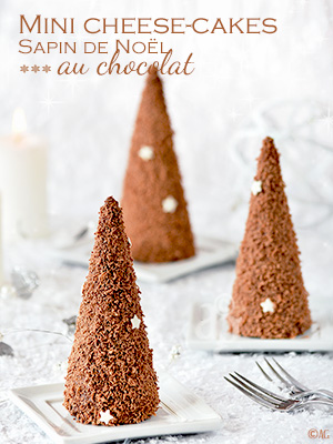 Alter gusto mini cheesecakes sapin de no l au chocolat - Faire un sapin de noel en chocolat ...