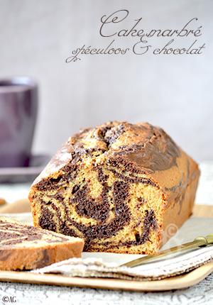 Cake marbré aux spéculoos & chocolat
