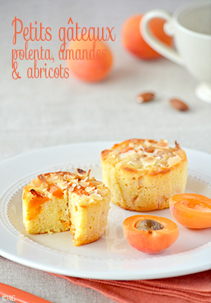 Petits gâteaux à la polenta, amandes & abricots