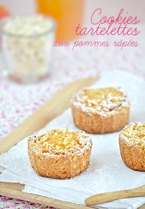 Cookies-tartelettes aux pommes râpées
