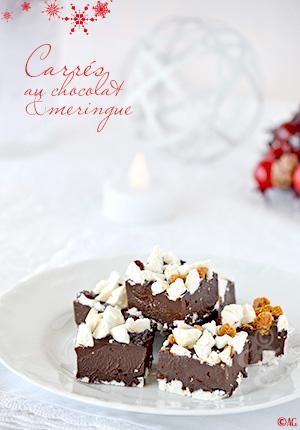 Carrés au chocolat & meringue – Idées de gourmandises pour les fêtes