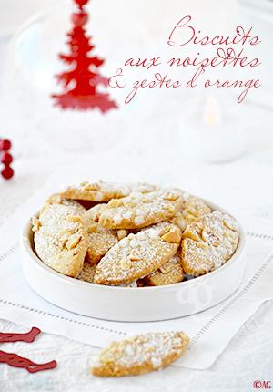Biscuits aux noisettes Corses & zestes d'orange pour mon ami Eugène…