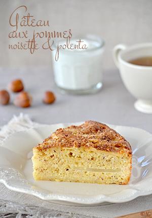Gâteau aux pommes, noisette & polenta