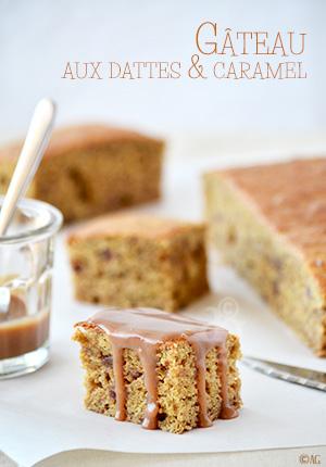Gâteau aux dattes & caramel