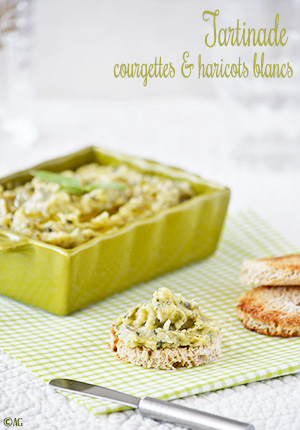 Tartinade de courgettes & haricots blancs